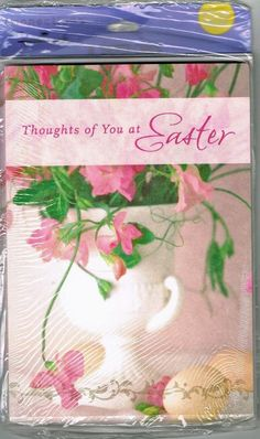 Vintage Easter Card Package Of 8 Hallmark Unopened Lily Lillies Party