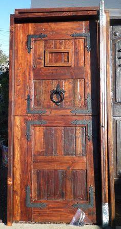 Rustic reclaimed lumber kiln dried stained entry DUTCH 36 X80 door speakeasy