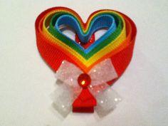 Valentine's Day Heart Ribbon Sculpture Hair Clippie by KristinStephanie, $4.00