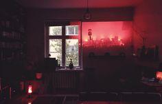bohemian decoration / red light / lava lamp / finland