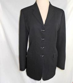 Piazza Sempione NOS Deadstock Trophy Jacket Blazer Wool Long Line Tunic Fitted