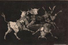 Goya-A litografia é um tipo de gravura que envolve a criação de marcas sobre uma matriz (pedra calcária ou placa de metal) com um lápis gorduroso. A base da técnica é o princípio da repulsão entre água e óleo. Ao contrário das outras técnicas de gravura, a Litografia é planográfica, ou seja, o desenho é feito através da acumulação de gordura sobre a superfície da matriz.A Litografia foi usada extensivamente nos primórdios da imprensa moderna no século XIX.