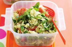 Risoni, which is pasta shaped like rice, is the perfect base for this nutritious and filling salad. Risoni Salad, Pesto Salad, Pasta Recipes, Salad Recipes, Dinner Recipes, Cooking Recipes, Lunch Recipes, Healthy Cooking, Healthy Eating
