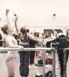 New York City Ballet, warm up, ballerinas, dancers / Garance Doré