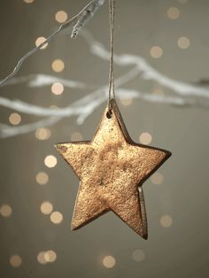 Hanging Copper Solid Star - Stars - Features - Christmas