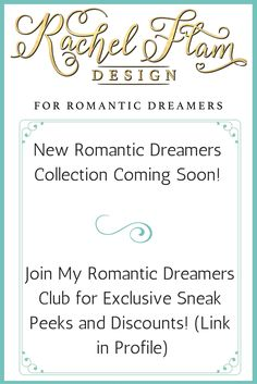 Join the Romantic Dreamers club and get great giveaways and exclusive discounts no one else will have!