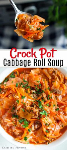 Our family loves Crockpot Cabbage Roll Soup Recipe and it has everything you need for a great meal. You will love this one pot meal that is so easy to make. Cabage Roll Soup, Crockpot Cabbage Roll Soup, Crockpot Cabbage Recipes, Slow Cooker Cabbage Rolls, Unstuffed Cabbage Roll Soup, Crock Pot Cabbage, Best Crockpot Recipes, Cooked Cabbage, Crock Pot Soup
