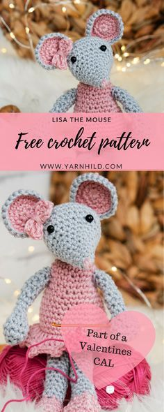 crochet pattern amirugumi mouse, free crochet pattern in English and Norwegian