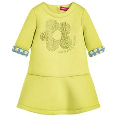 Agatha Ruiz de la Prada Girl Green Flower Dress  at Childrensalon.com