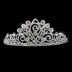 Smart Bridal/ Wedding/ Prom Rhodium Plated Clear Austrian Crystal Multi Flower Tiara H Hair & Head Jewelry