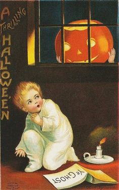 Happy Halloween Vintage Postcard Round-up! Retro Halloween, Fröhliches Halloween, Victorian Halloween, Vintage Halloween Images, Halloween Quotes, Halloween Pictures, Holidays Halloween, Halloween Decorations, Vintage Holiday