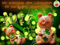 Ein FROHES NEUES JAHR 2017 - und viel Glück allen Tieren und Menschen! Mit veganen Leckereien feiert es doch doch doppelt gleich so schön!  #vegan #silvester #2017