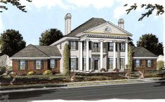 Whatever is your idea of perfect Greek Revival house plans is, MonsterHousePlans.com is sure to have what you're looking for - http://www.monsterhouseplans.com/greek-revival-style-house-plans-4166-square-foot-home-2-story-4-bedroom-and-4-bath-3-garage-stalls-by-monster-house-plans-plan11-284.html