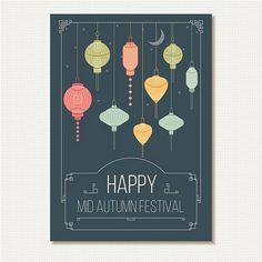 En güzel dekorasyon paylaşımları için Kadinika.com #kadinika #dekorasyon #decoration #woman #women free vector Happy MID Autunm Festival Greeting Card