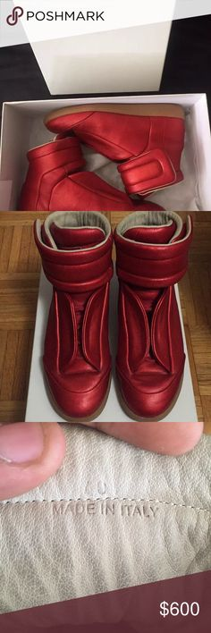 Maison Martin Margiela Futures Red metallic Maison Martin Margiela | Size 40(7) | 8/10 Condition | Minor creases and no dustbags just box and sneakers Maison Martin Margiela Shoes Sneakers