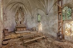 abandoned old gothic church
