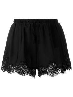 Shop Twin-Set lace hem shorts  in Spinnaker 101 from the world's best independent boutiques at farfetch.com. Shop 400 boutiques at one address.