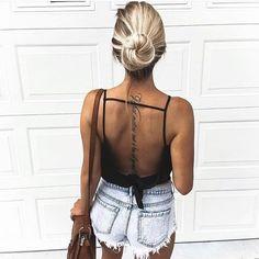 fashion, girl, and tattoo image