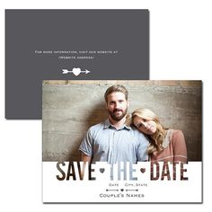 Photo Wedding Save The Date Announcement Postcard - Printed 5.5 x 4 inch Save The Date Cards with Envelopes $20.00