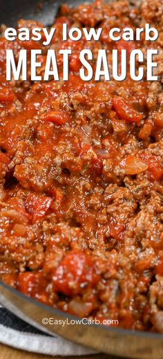 low carb recipes This easy low carb meat sauce recipe goes perfectly with just about anything. Serve it in lasagna, over zucchini noodles, pasta, or on bread. It is the ultimate healthy comfort food! Low Carb Meats, Healthy Meats, Low Carb Sauces, Healthy Recipes, Keto Sauces, Diet Recipes, Meat Sauce Recipes, Hamburger Meat Recipes, Lasagna Sauce Recipe