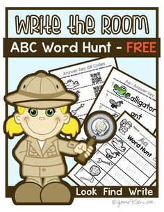 Kindergarten Write the Room - Alphabet Word Hunt A-M WORD HUNT! Alphabet Write the Room activity. Kindergarten Write the Room Alphabet Activity - Teach your students letters, letter sounds, and how to read/write all at the same time! Kindergarten Handwriting, Beginning Of Kindergarten, Kindergarten Centers, Kindergarten Literacy, Classroom Activities, Alphabet Activities, Preschool, Literacy Centers, Classroom Ideas