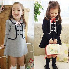 Vogue Girl Kid Newborn Tops Pullover Coat Dress Baby Toddler Preppy Fall Outwear | eBay