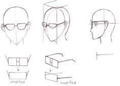 Manga Tutorials - How to Draw Glasses, Shades, Specs ans Sunglasses