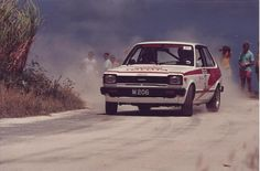 toyota starlet kp61 rally in Barbados 80's