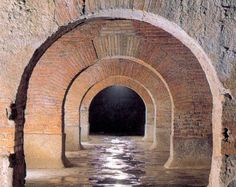 Roman cisterns, 1st century a.C., FERMO, Italy...unique and perfectly preserved!