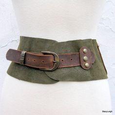 Old World Leather Belt by Stacy Leigh $95 y ya puestos precios cinturon que 95 dolores ni que lo hacemos con nuestras manos y ¿ quien nos quita el orgullo de decir con estas manitas