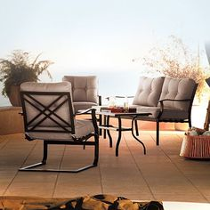 Bayview Loveseat Chair And Coffee Table Set