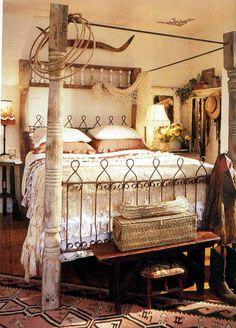Cowgirl bedroom   #cowgirlhome #cowgirlhomedecor   http://www.islandcowgirl.com/