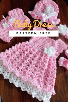 Crochet Baby Dress Pattern Blanket off Handmade Dresses Crochet Patterns Crochet Baby Dress Free Pattern, Crochet Bolero, Crochet Baby Blanket Beginner, Crochet Dress Girl, Baby Girl Dress Patterns, Baby Girl Crochet, Crochet Baby Clothes, Baby Patterns, Baby Knitting