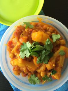 Cauliflower & Chickpea Curry for a warm packed lunch that also freezes really well