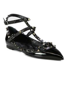 Editor's Choice: Best Holiday Gifts - Amanda Weiner, Senior Accessories Director - Valentino studded flats, $895