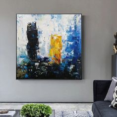 original abstract art on canvas contemporary,living room painting abstract,large abstract canvas wall art,office wall art canvas Abstract Canvas Wall Art, Blue Abstract Painting, Large Canvas Wall Art, Extra Large Wall Art, Contemporary Abstract Art, Stretching, Artworks, Hand Painted, Paintings