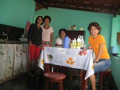 Célia, Sandra, Georgea e Sueli - Casa da Célia em Ipiaçu - MG - 13/Fev/2009