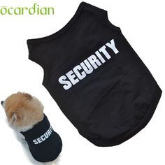 Ocardian Top Grand Fashion Summer Cute Dog Pet Vest Cotton Puppy T Shirt SECURITY print doggy cloth clothing dress on sale