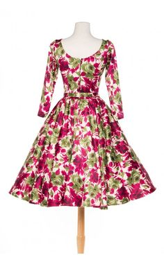 Pinup Couture- Margaret in Baton Rouge with Olive Roses Satin - Plus Size   Pinup Girl Clothing