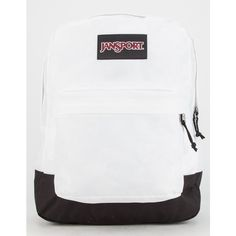 JanSport Black Label SuperBreak Backpack (2,380 INR) ❤ liked on Polyvore featuring bags, backpacks, white, jansport, black bag, jansport rucksack, rucksack bag and backpacks bags
