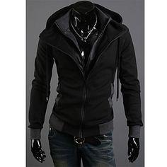 faux-duas peças casaco hoodie dos homens – BRL R$ 98,44