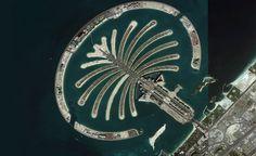 Palm Jumeirah (Bing maps) Una de las islas artificiales más grandes creadas por el hombre. #Dubai