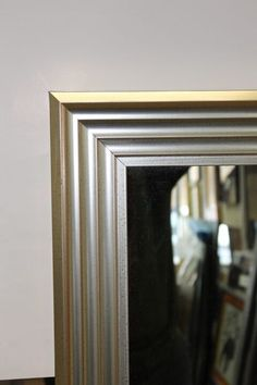 Silver Fluted Mirror (8 cm wide). A sharp Contemporary framed mirror, yet suitable for more traditional settings. Can also be made with a gold finish. Contemporary Frames, Flute, Traditional, Silver, Furniture, Gold, Home Decor, Decoration Home, Room Decor