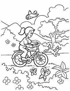 spring season coloring pages
