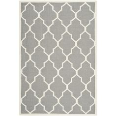 Safavieh Hand-woven Moroccan Dhurrie Grey Wool Rug (6' x 9')   Overstock.com Shopping - The Best Deals on 5x8 - 6x9 Rugs
