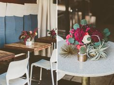 Mid Century Modern Wedding Floral Inspiration l Air Plant Arrangements