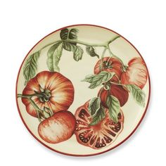 Could not resist serving our summer tomatoes on these beaufitul plates! Botanical Tomato Salad Plates, Set of Brandywine China Painting, Ceramic Painting, Ceramic Plates, Decorative Plates, White Dinner Plates, Tomato Salad, Cooking Utensils, Salad Plates, China Dinnerware