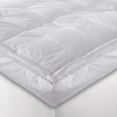 "5"" White Down Blend Pillowtop Featherbed - BedBathandBeyond.com"