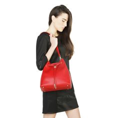 2016 F/W Collection - Women's bag - Crossbody bag - Magnetic closure, removable handle, removable shoulder strap - Inside: zipped pocket, patch pocket - Composition: outside: eco-leather; Leather Crossbody Bag, Leather Backpack, Crossbody Bags, Trendy Collection, Online Bags, Perfect Match, Party Wear, Shoulder Strap, Stuff To Buy