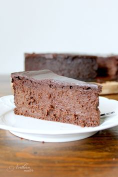 This Double Dark Chocolate Mousse Cake is for serious chocolate lovers only! A rich, decadent THM S. One tiny piece will satisfy your chocolate craving.